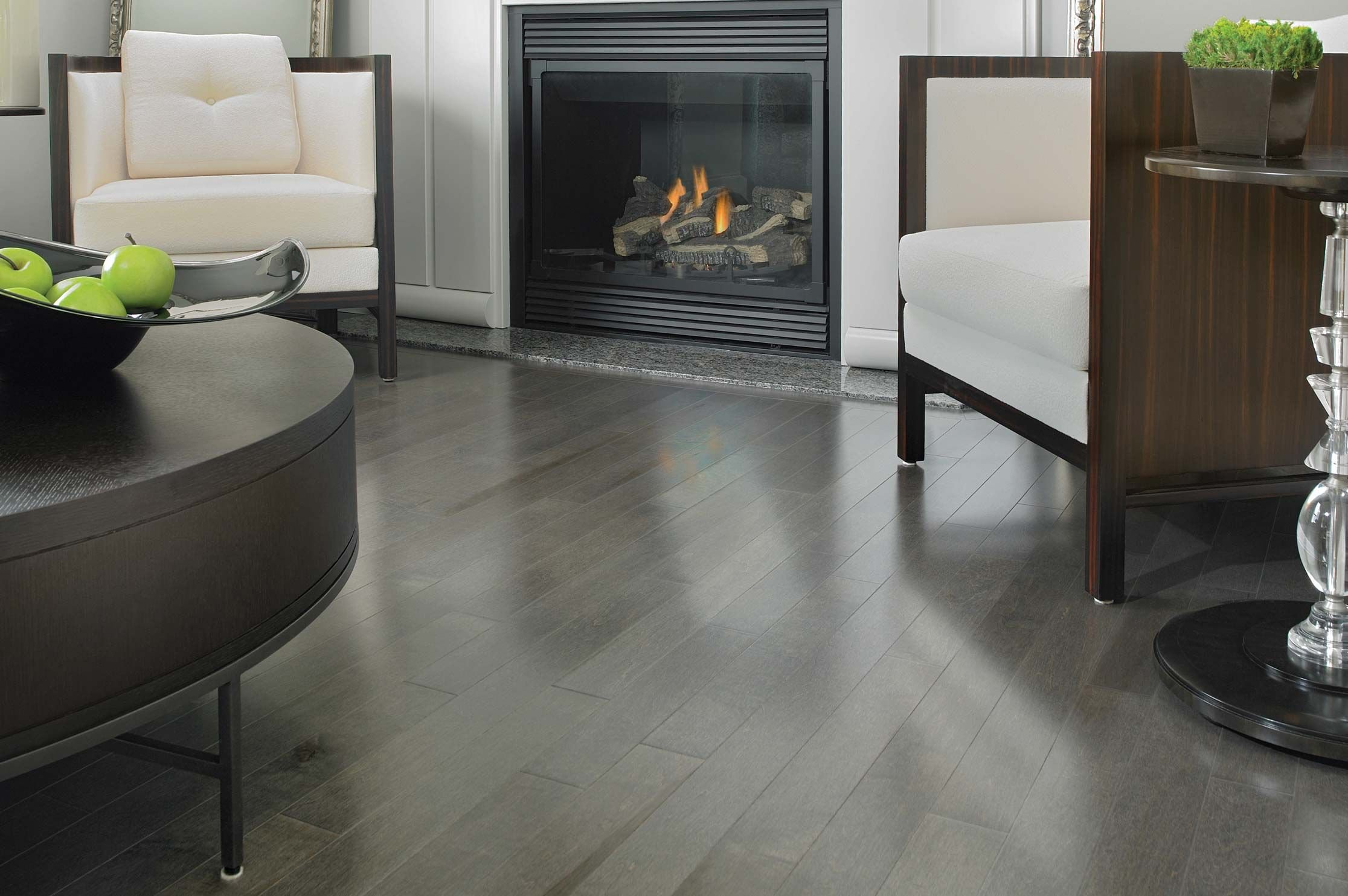 Admiration maple charcoal mirage hardwood floors for White hardwood floors design ideas