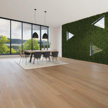 Planchers de bois franc Chêne Blanc Naturel / Mirage Herringbone Naturel / Inspiration