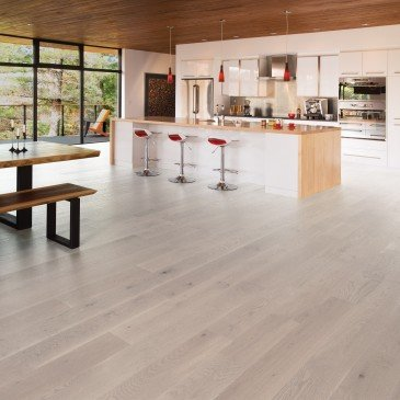 White White Oak Hardwood flooring / Snowdrift Mirage Herringbone / Inspiration