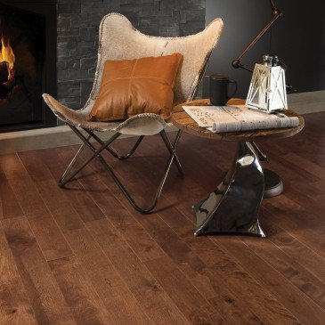 Brown Yellow Birch Hardwood flooring / Praline Mirage Sweet Memories / Inspiration