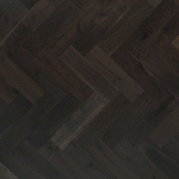 Brown Walnut Hardwood flooring / Charcoal Mirage Herringbone
