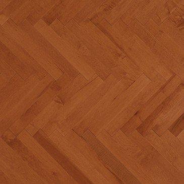 Orange Maple Hardwood flooring / Auburn Mirage Herringbone