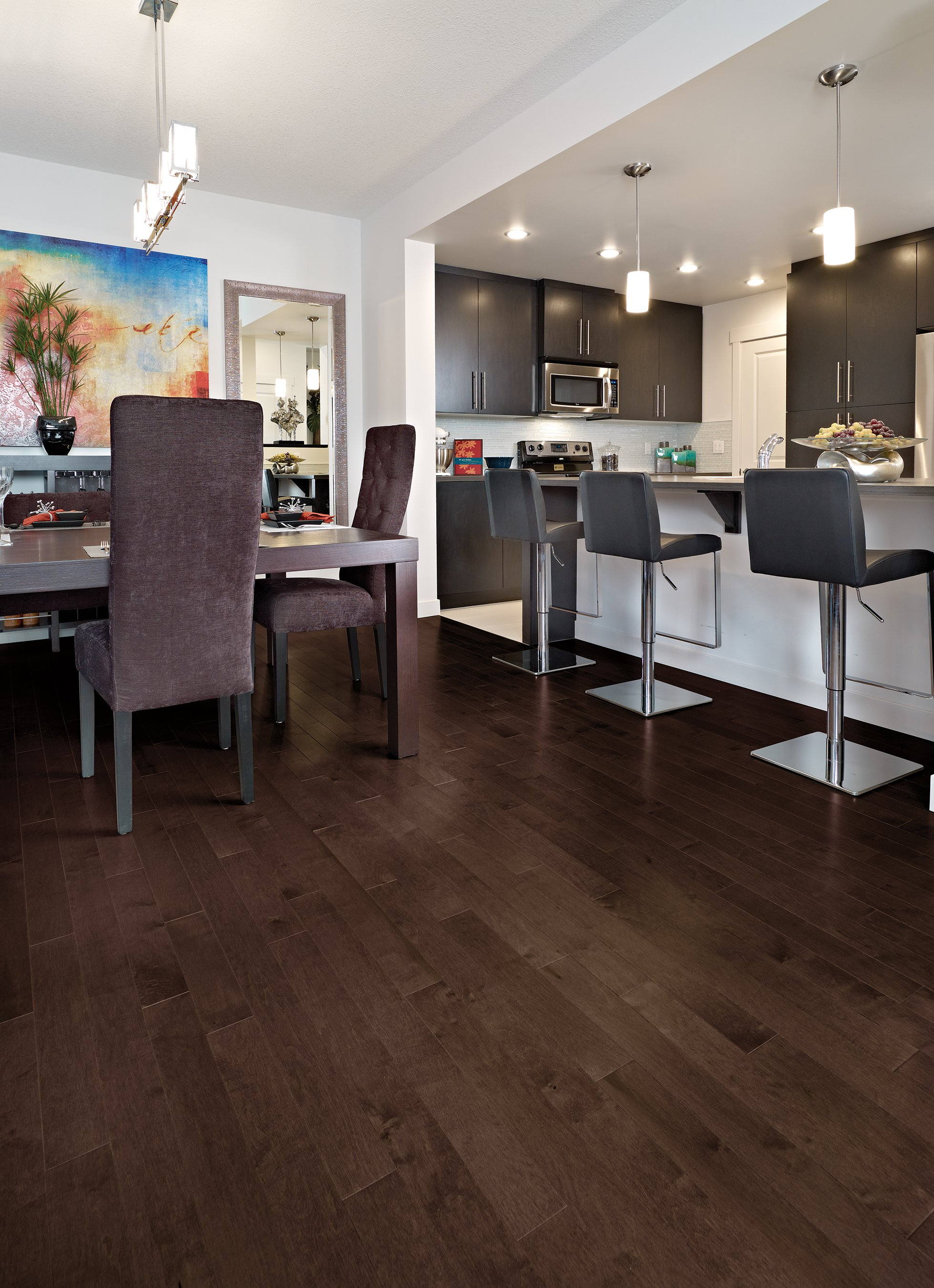 Herringbone maple java mirage hardwood floors for Mirage hardwood flooring