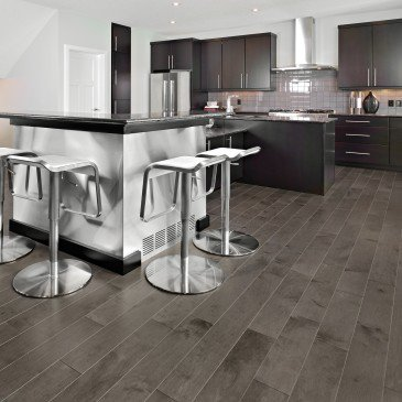 Brown Yellow Birch Hardwood flooring / Charcoal Mirage Admiration / Inspiration
