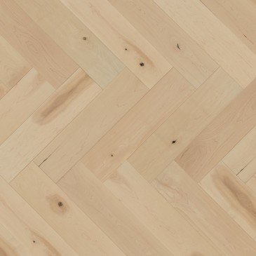 White Maple Hardwood flooring / White Mist Mirage Herringbone