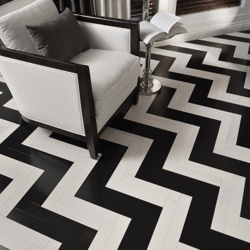 White Maple Hardwood flooring / Nordic Mirage Herringbone / Inspiration