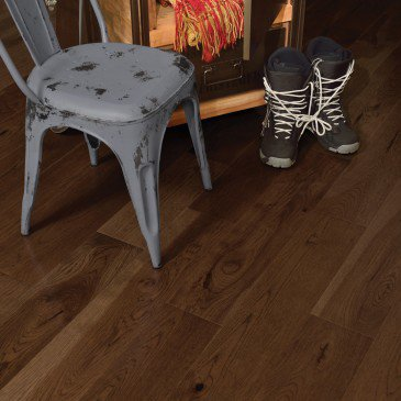 Brown Hickory Hardwood flooring / Havana Mirage Herringbone / Inspiration