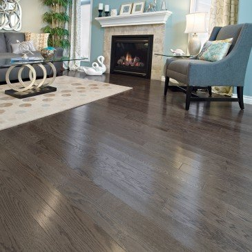 Grey Red Oak Hardwood flooring / Charcoal Mirage Herringbone / Inspiration