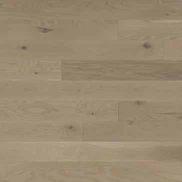 Pale grey White Oak Hardwood flooring / Stardust Mirage Flair