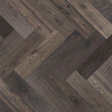 Grey White Oak Hardwood flooring / Lunar Eclipse Mirage Herringbone