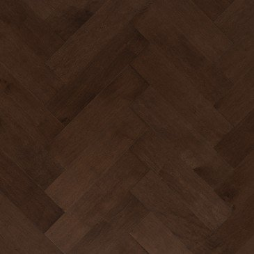 Brown Maple Hardwood flooring / Coffee Mirage Herringbone