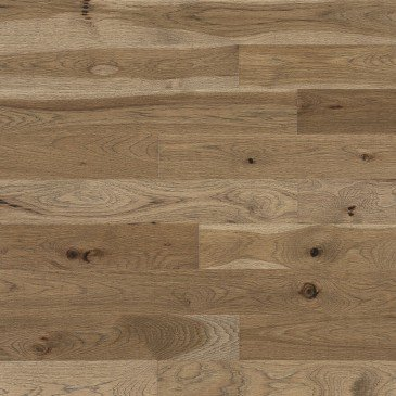Brown Hickory Hardwood flooring / Seashell Mirage Imagine