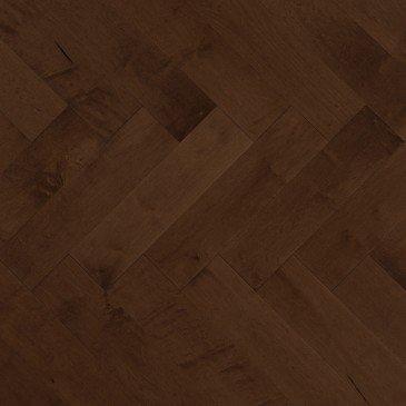 Brown Maple Hardwood flooring / Havana Mirage Herringbone