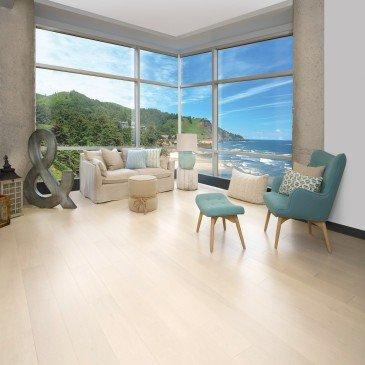 Beige Maple Hardwood flooring / Cape Cod Mirage Herringbone / Inspiration