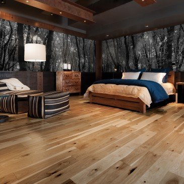 Natural Hickory Hardwood flooring / Natural Mirage Natural / Inspiration
