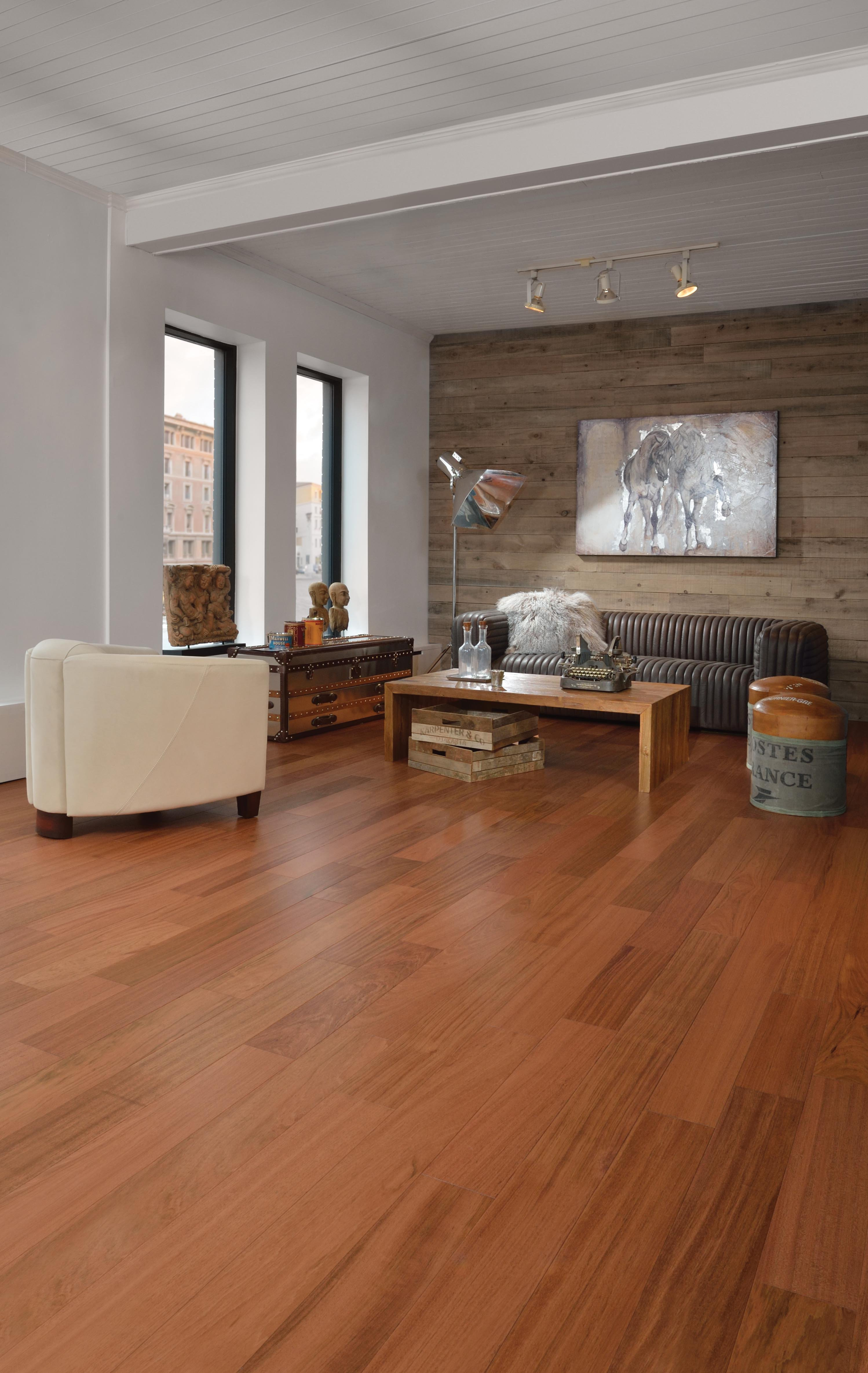 Brazilian Cherry Hardwood Flooring Home Plan