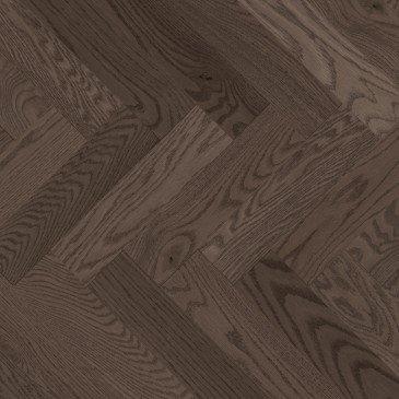 Grey Red Oak Hardwood flooring / Platinum Mirage Herringbone