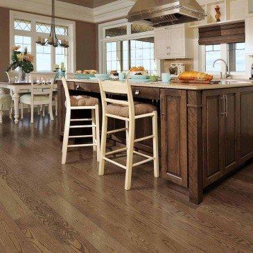 Brown Red Oak Hardwood flooring / Savanna Mirage Herringbone / Inspiration