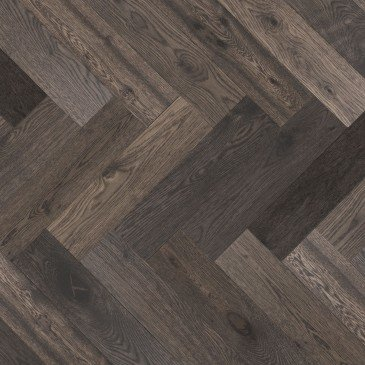 Grey White Oak Hardwood flooring / Lunar Eclipse Mirage Herringbone
