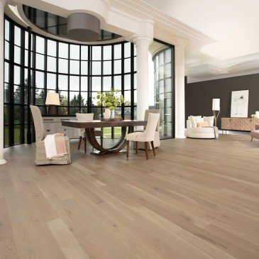 Pale grey White Oak Hardwood flooring / Stardust Mirage Flair / Inspiration