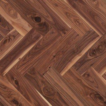 Natural Walnut Hardwood flooring / Natural Mirage Herringbone