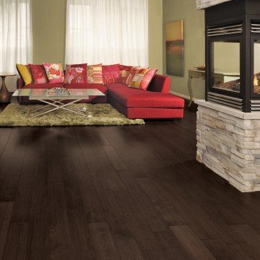 Brown Maple Hardwood flooring / Black Jelly Bean Mirage Sweet Memories / Inspiration