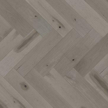Planchers de bois franc Érable Brun / Mirage Herringbone Grey Drizzle