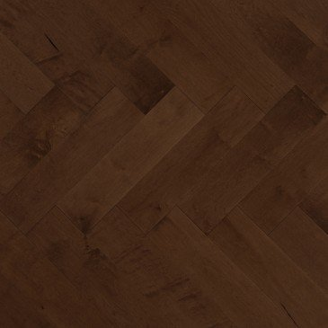 Brown Maple Hardwood flooring / Havana Mirage Herringbone