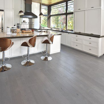 Grey Red Oak Hardwood flooring / Hopscotch Mirage Herringbone / Inspiration