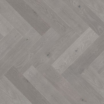 Grey Red Oak Hardwood flooring / Hopscotch Mirage Herringbone