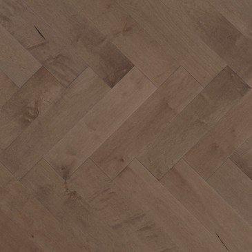 Grey Maple Hardwood flooring / Greystone Mirage Herringbone