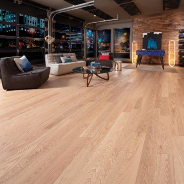 Natural Red Oak Hardwood flooring / Natural Mirage Herringbone / Inspiration