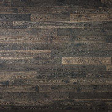 Planchers de bois franc Chêne Blanc Brun / Mirage Herringbone Lunar Eclipse