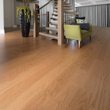 Golden Red Oak Hardwood flooring / Sierra Mirage Herringbone / Inspiration