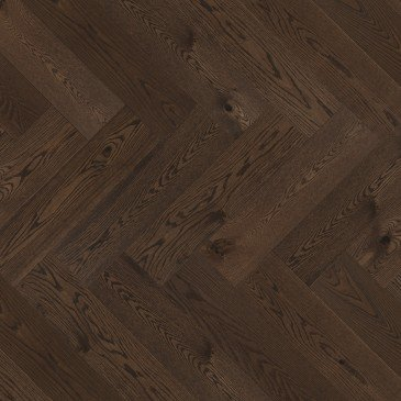 Brown Red Oak Hardwood flooring / Nightfall Mirage Herringbone