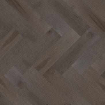 Grey Maple Hardwood flooring / Charcoal Mirage Herringbone