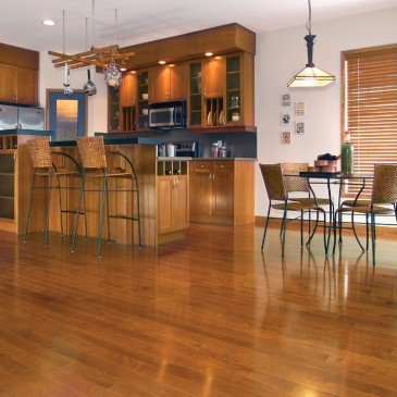 Orange Yellow Birch Hardwood flooring / Auburn Mirage Admiration / Inspiration