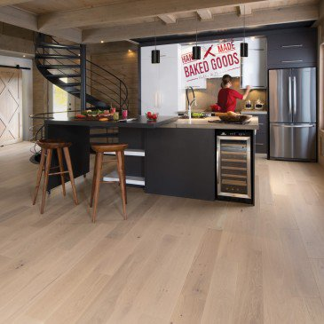 Natural White Oak Hardwood flooring / White Mist Mirage Herringbone / Inspiration