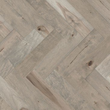 Beige Maple Hardwood flooring / Gelato Mirage Herringbone