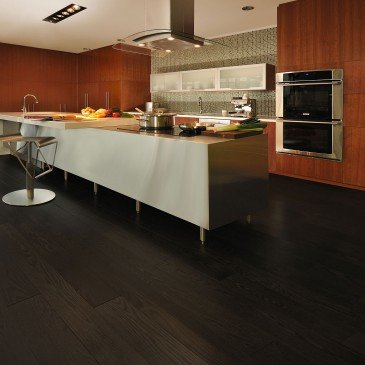 Grey Red Oak Hardwood flooring / Graphite Mirage Herringbone / Inspiration