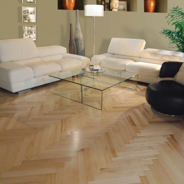 Natural Maple Hardwood flooring / Natural Mirage Herringbone / Inspiration