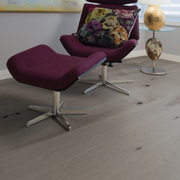 Brown Maple Hardwood flooring / Grey Drizzle Mirage Flair / Inspiration