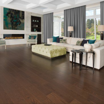 Brown Red Oak Hardwood flooring / Havana Mirage Herringbone / Inspiration