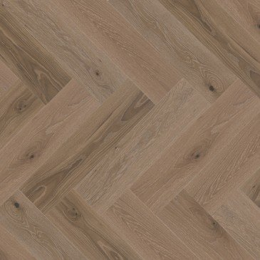 Brown White Oak Hardwood flooring / Sand Castle Mirage Herringbone