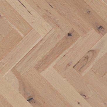 Pale grey Hickory Hardwood flooring / Desert rose Mirage Herringbone