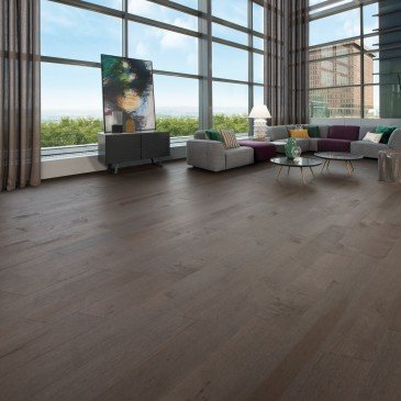 Brown Maple Hardwood flooring / Charcoal Mirage Herringbone / Inspiration