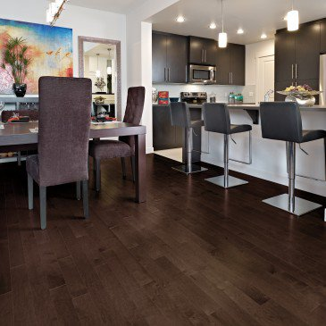 Brown Maple Hardwood flooring / Java Mirage Herringbone / Inspiration