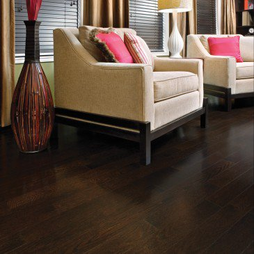 Brown Red Oak Hardwood flooring / Java Mirage Admiration / Inspiration