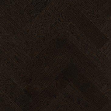 Black Red Oak Hardwood flooring / Graphite Mirage Herringbone