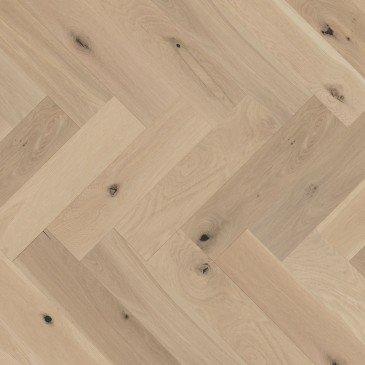 White White Oak Hardwood flooring / White Mist Mirage Herringbone